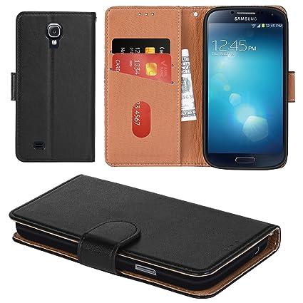 Aicoco Galaxy S4 Hülle Schutzhülle Tasche Flip Case für Samsung Galaxy S4 Handyhülle - Schwarz