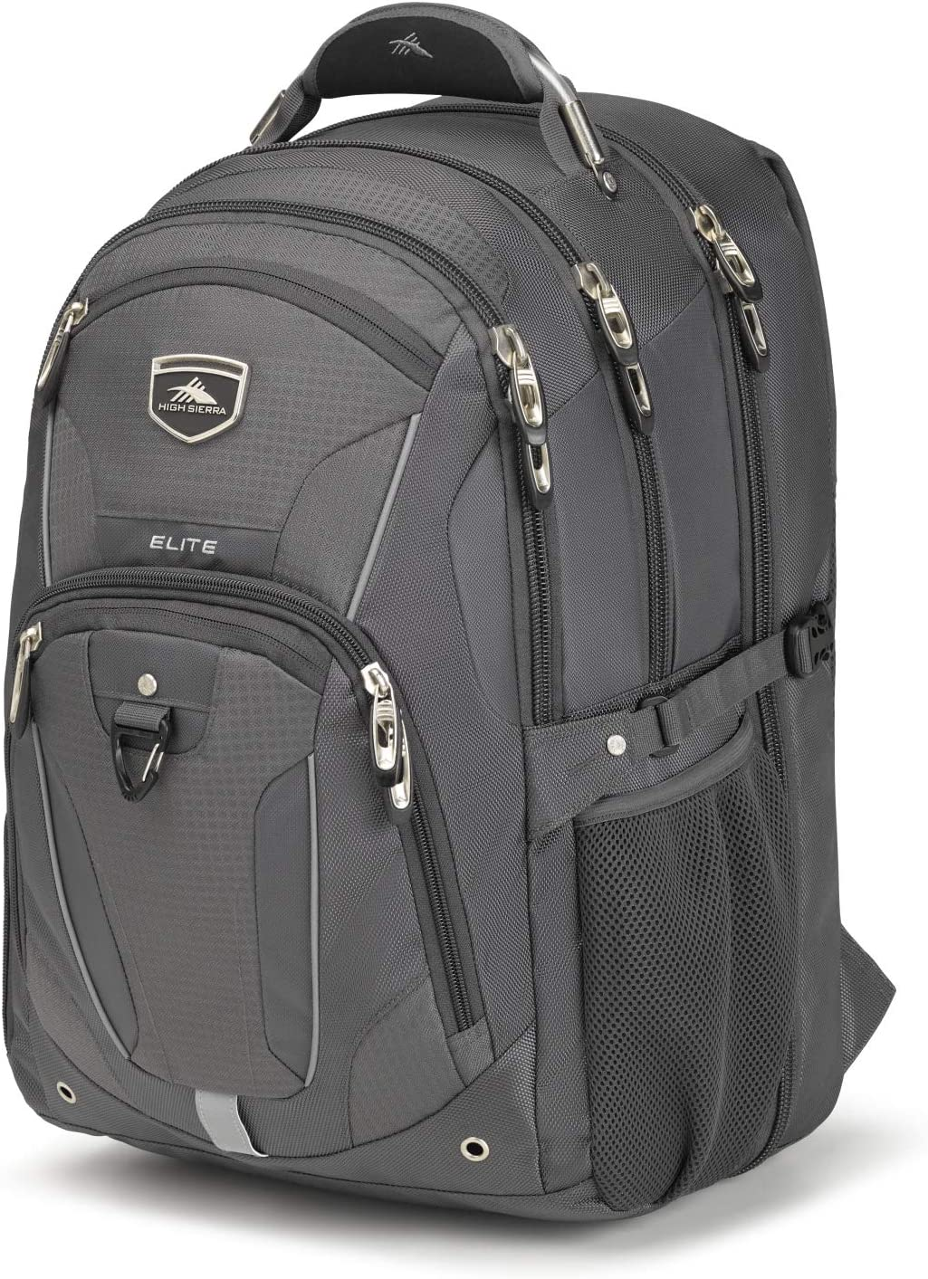 High Sierra Elite TSA-Friendly Laptop Backpack - Ideal for High School and College Students - Fits Most 17-inch Laptop Models, Mercury