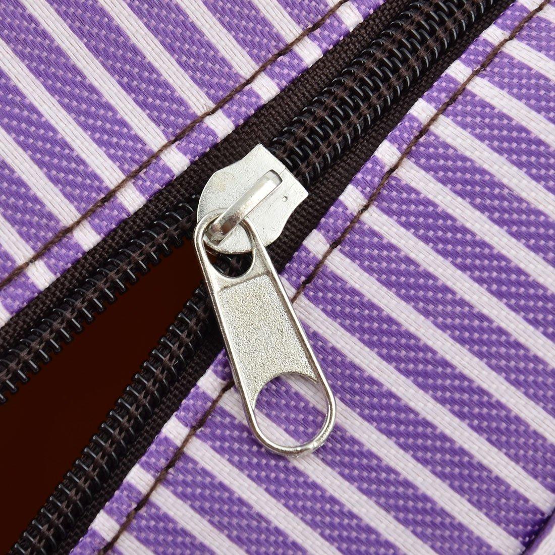 Amazon.com: eDealMax algodón de lino modelo de la raya al aire libre Inicio almuerzo titular refrigerador de la bolsa de la bolsa de asas: Kitchen & Dining