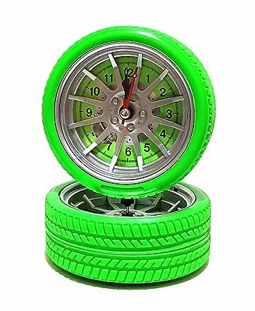 Amazon De Quarz Wecker Uhr Tischuhr Reifen Auto Felgen Autoreifen