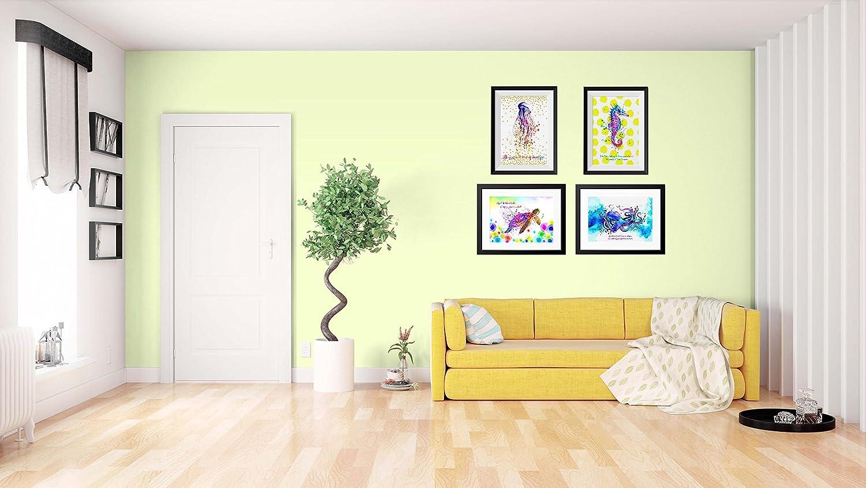 Amazon.com: Uhomate 4 pcs Sea Animals Pink Jellyfish Art-Sea Turtle ...