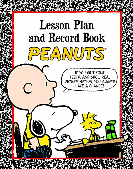 Eureka Peanuts Back to School Classroom Supplies Record and Lesson Plan Book for Teachers, 8.5 x 11, 40 Weeks