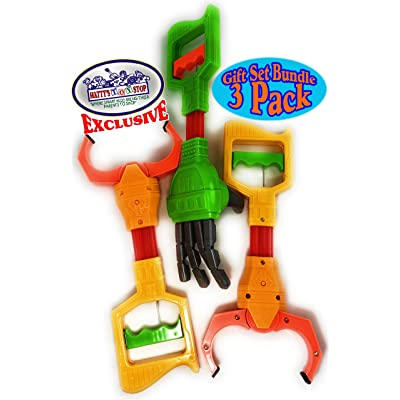 """Mɑtty's Toy Stop Deluxe 12"""" Galaxy Grabber, Robot Hand & Robot Claw Gift Set Bundle - 3 Pack: Toys & Games"""