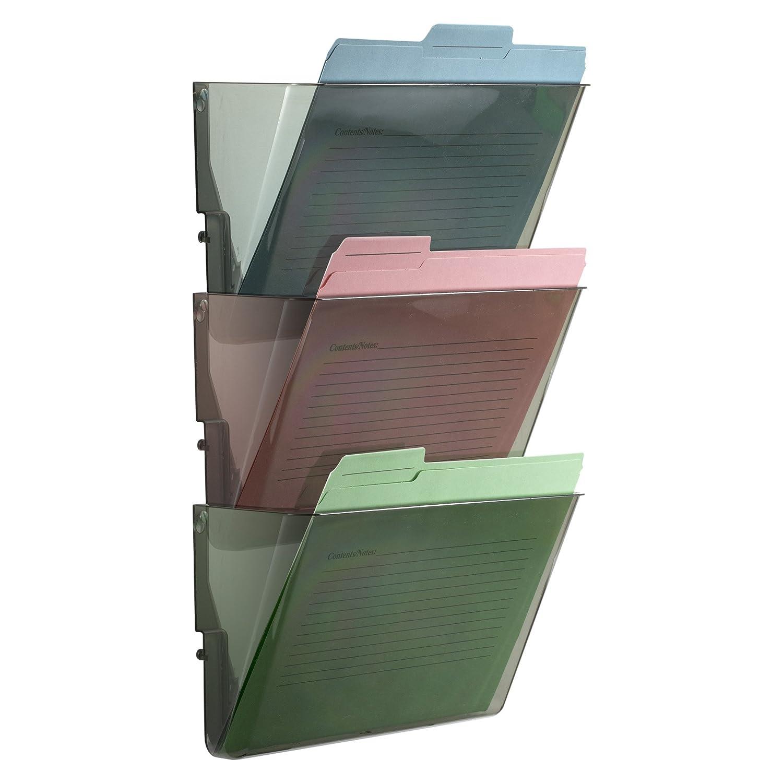 21421 Smoke Officemate Wall File Set of 3