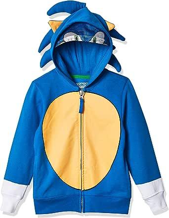 SEGA Unisex-Child Boys Sonic The Hedgehog Costume Hoodie Long Sleeve Hooded Sweatshirt - Blue