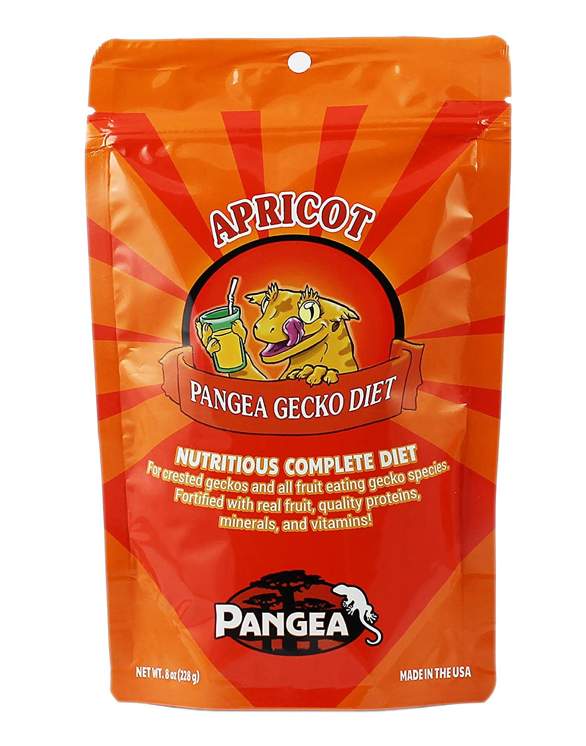 Banana/Apricot Pangea Fruit Mix Complete Crested Gecko Food 1 lb