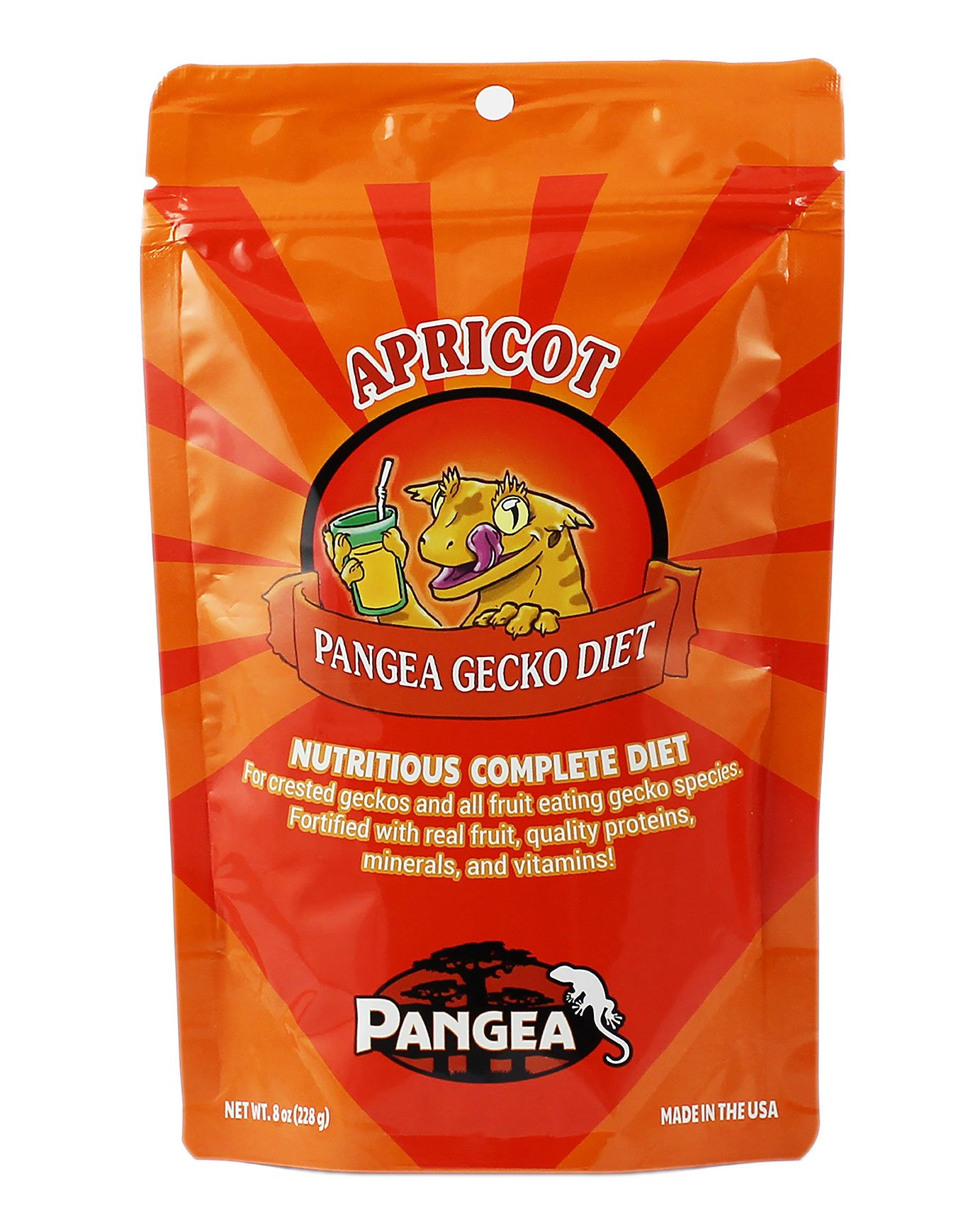 Pangea Fruit Mix Apricot Complete Crested Gecko Food 1/2 lb