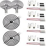 KITCHEN BASICS 101 MP22YA Electric Range Burner Coil Set Replacement for Whirlpool KitchenAid Maytag - Includes 2 8-Inch MP21