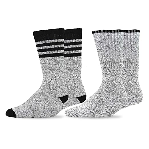 Soxnet Eco Friendly Heavy Weight Recycled Cotton Thermals Boot Socks 2-Pack  (9-