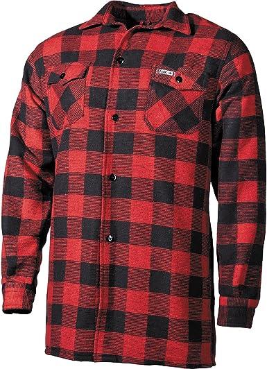 Fox Outdoor Hombres Lumberjack Camisa Rojo / Negro tamaño 3XL: Amazon.es: Ropa y accesorios