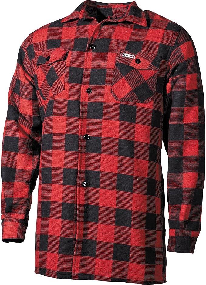 Fox Outdoor Hombres Lumberjack Camisa Azul/Negro: Amazon.es: Ropa y accesorios