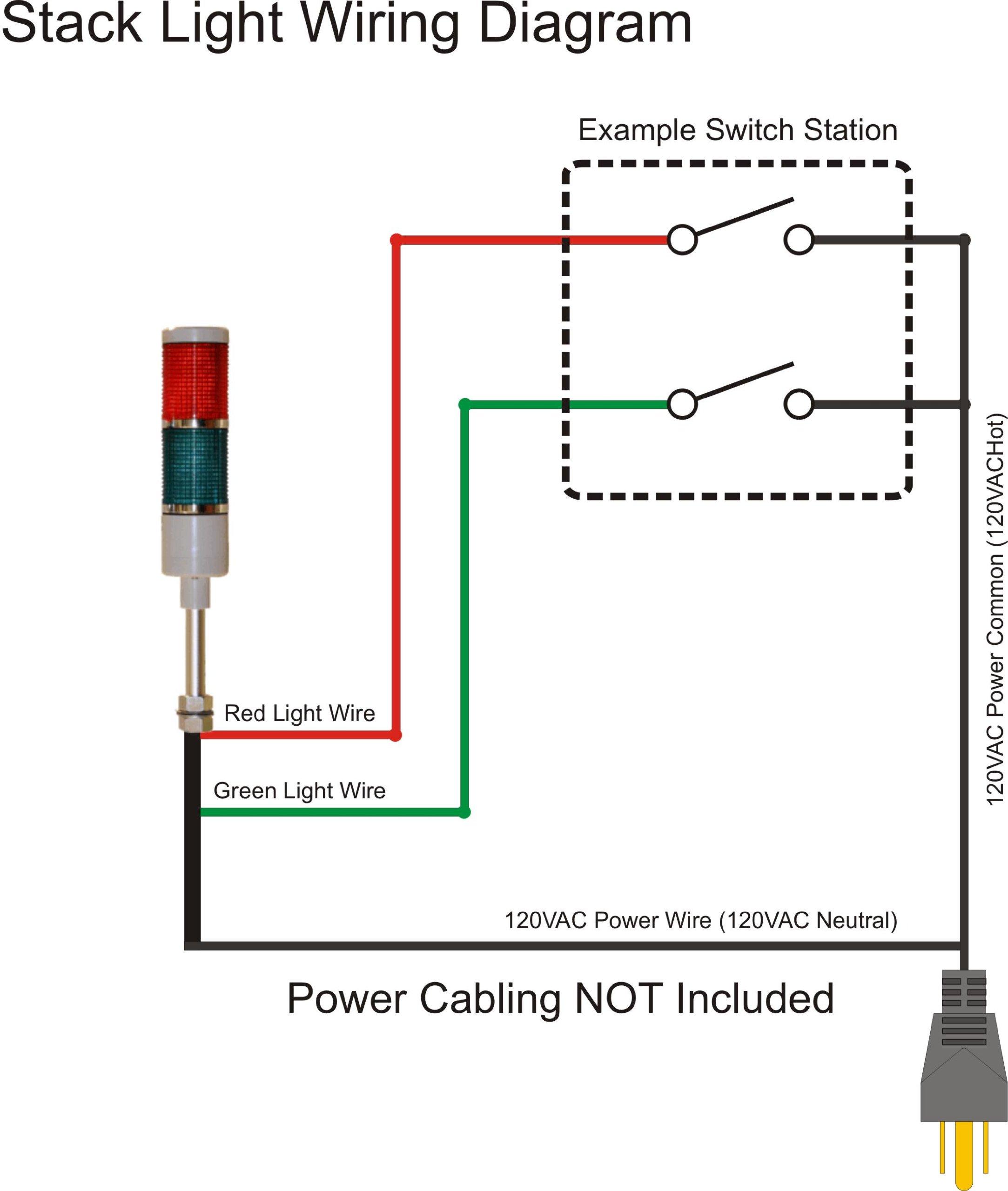 American LED-gible LD-5212-100 LED Tower Light , LED andon light , LED stacklight, 120V, Red/Green, Steady