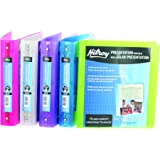 Hilroy 24012 1.5 Inch Metallic Poly Presentation Binder 11.5 x 10 Inch – Colour Will Vary