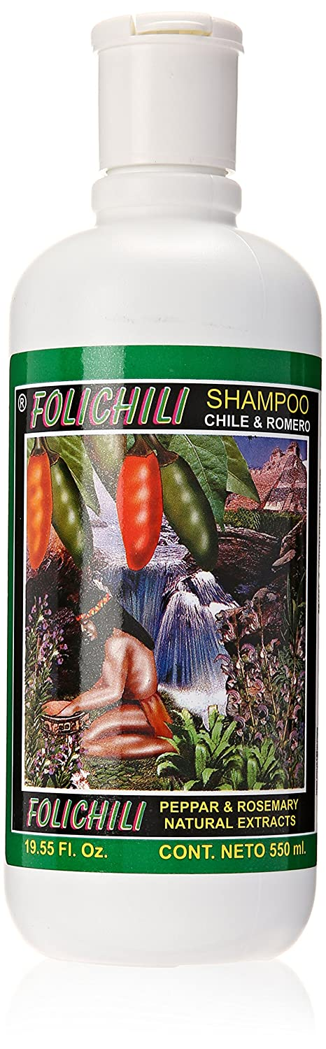 Amazon.com : Folichili Chile Y Romero Shampoo 550ml : Hair Shampoos : Beauty