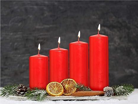 Grand conique de Noël de l/'Avent Bougie 30 cm rouge