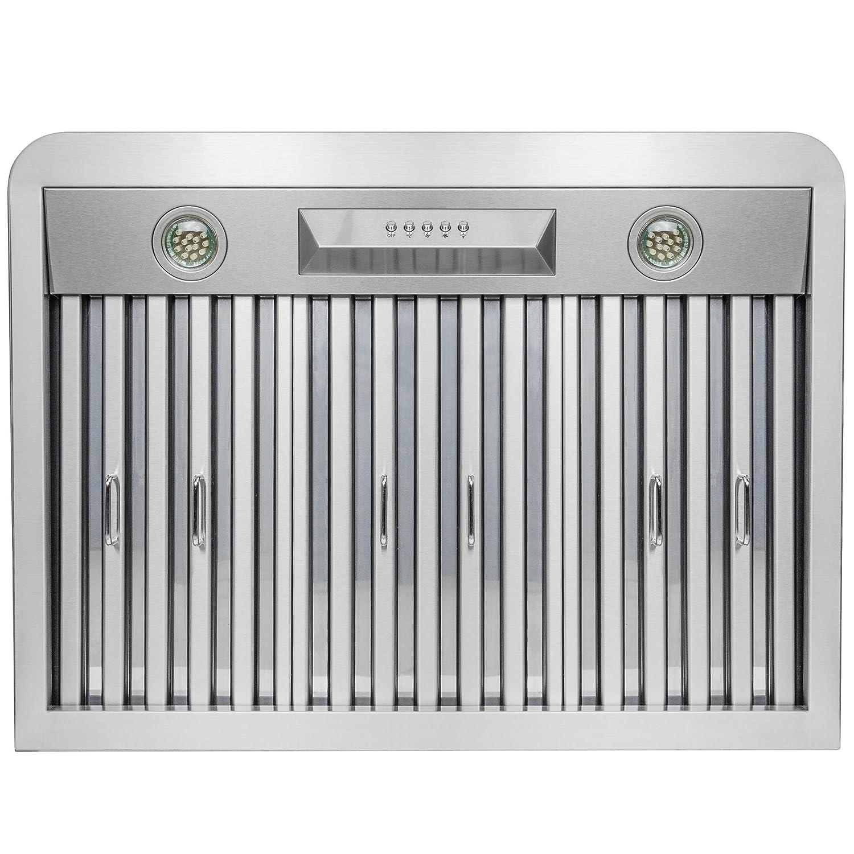 FIREBIRD 30 Under Cabinet Stainless Steel Kitchen Range Hood Vent Push Control