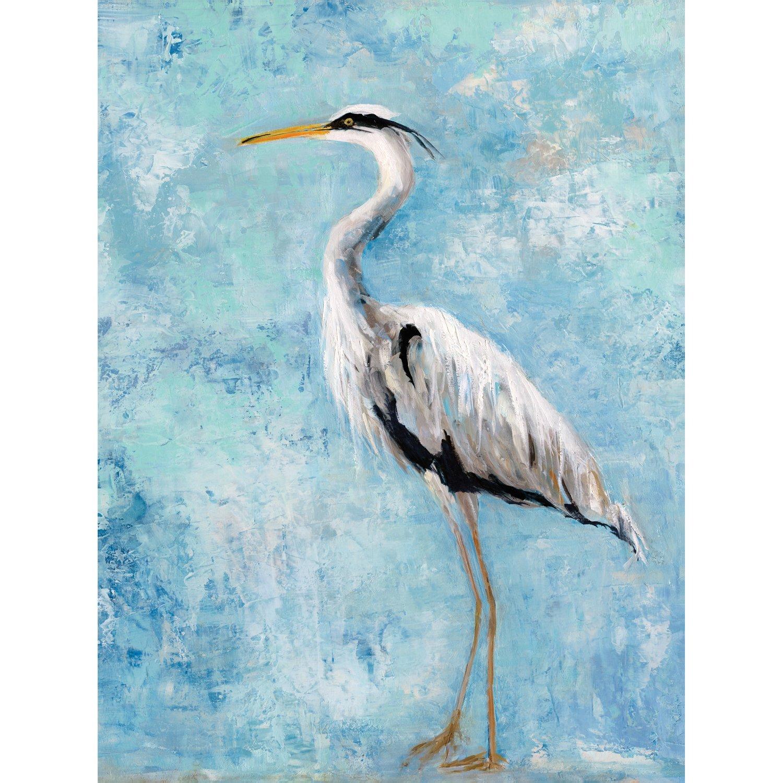Portfolio Canvas Decor Portfolio Décor Heron II by Sally Swatland Gallery Wrapped Canvas Wall Art, 30 x 40