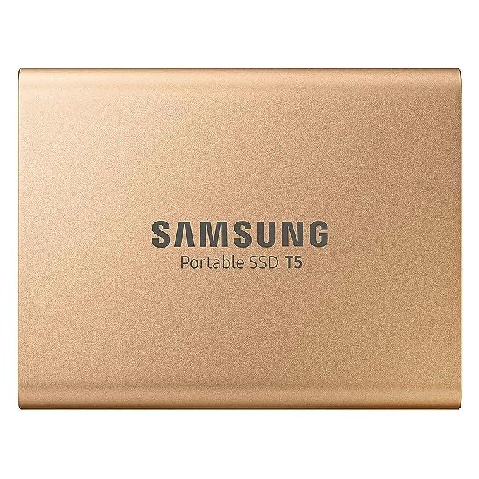 Samsung MU-PA500G 500 GB Oro - Unidades externas de Estado sólido (500 GB, USB Tipo C, 3.1 (3.1 Gen 2), 540 MB/s, Protección Mediante contraseña, Oro)