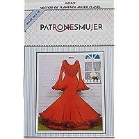 Patrón de costura vestido flamenca Clavel para hacerlo