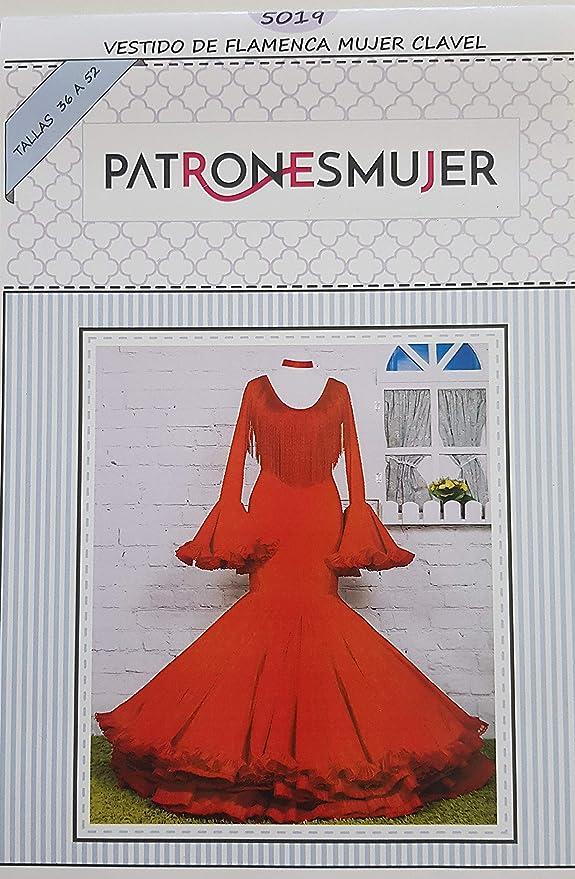 Patrón de costura vestido flamenca Clavel para hacerlo tú misma. Tutorial en vídeo para ayudarte a realizarlo. Talla 36 a la 52. Patrón multitalla en ...