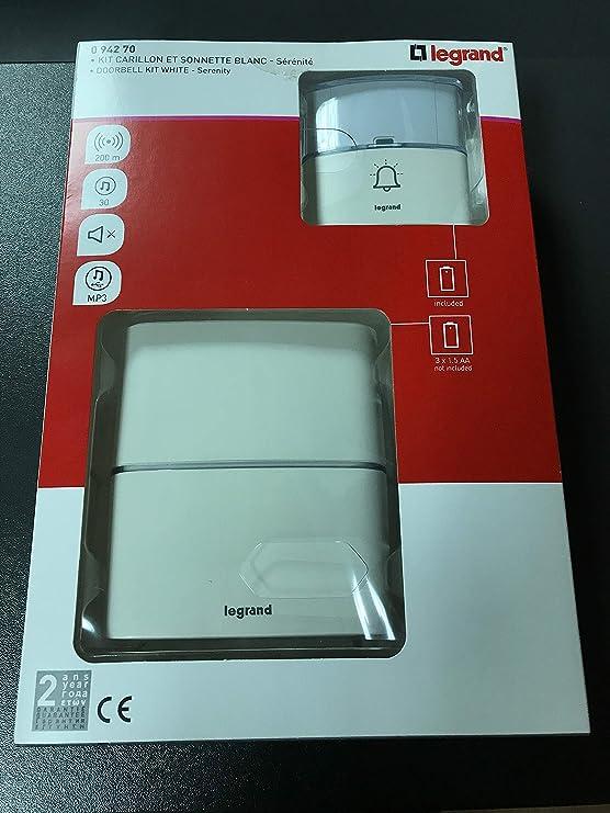 Legrand 94250 Wireless Doorbell 32 Melodies White
