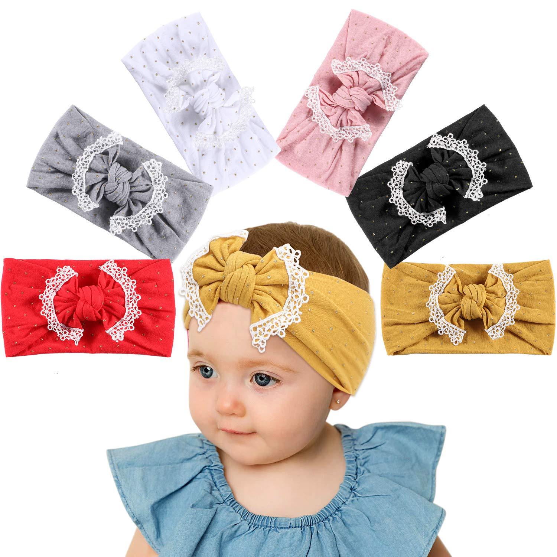 Tacobear Baby Girl Headbands Turban Hairband Bow Head Wrap Hairband Baby Elastic Turban Headband Hair Accessories for Baby Girls