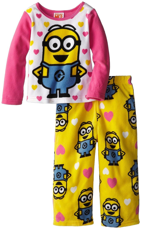 AME Girls Despicable Me Cozy Fleece Pajama Set AME Sleepwear Girls 2-6x 21DM038TLLDZ-S