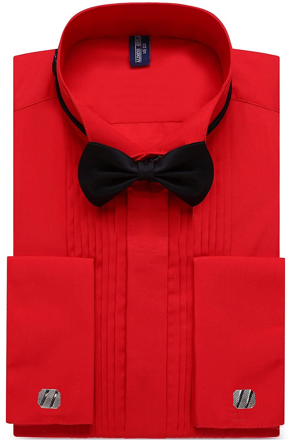 Alimens & Gentle Men's French Cuff Wing Collar Tuxedo Shirts Regular Fit ALM-M-FR-TUX-WING-1