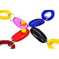 Downtown Pet Supply Big Button Dog Cat Training Clicker, Clickers with Wrist Bands