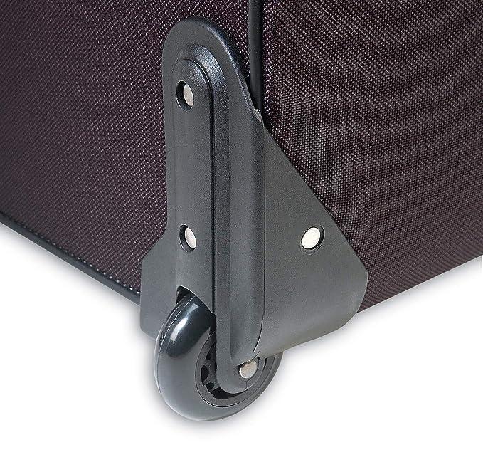 Traverlers Choice Amsterdam Rolling Garment Bag Wheeled Luggage Case, Black