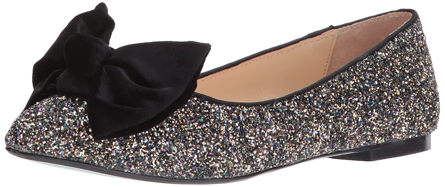 Blue by Betsey Johnson Women's SB-Amory Ballet Flat B0731PXGYK 9.5 B(M) US|Black Glitter