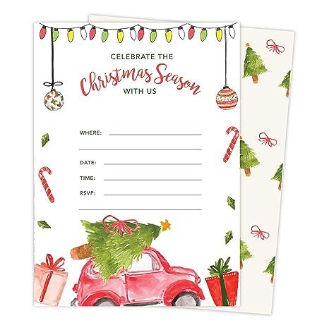 Color De Agua De Navidad N º 1 Tarjeta De Invitación Para