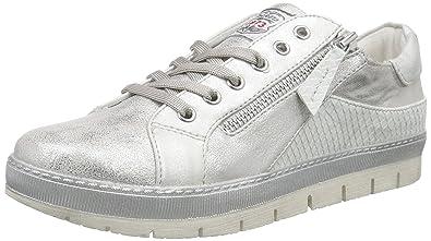 Dockers 35Ne217-686550, Sneakers Basses Femme, (Silber 550), 41 EU
