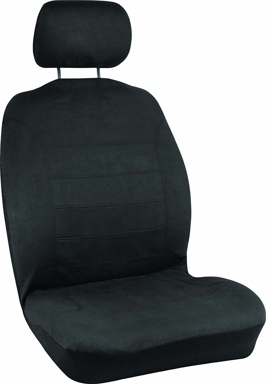 Bell Automotive 22-1-56226-8 Black Micro Suede Low-Back Bucket Seat Cover