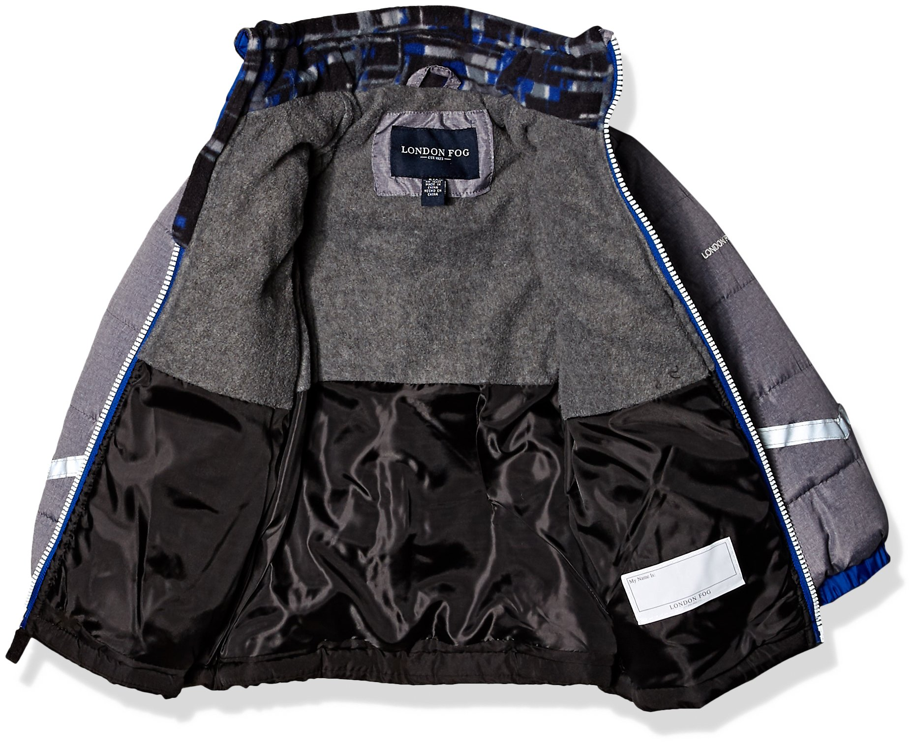 London Fog Toddler Boys' Active Heavyweight Jacket with Ski Cap, Super Blue, 2T by London Fog (Image #2)