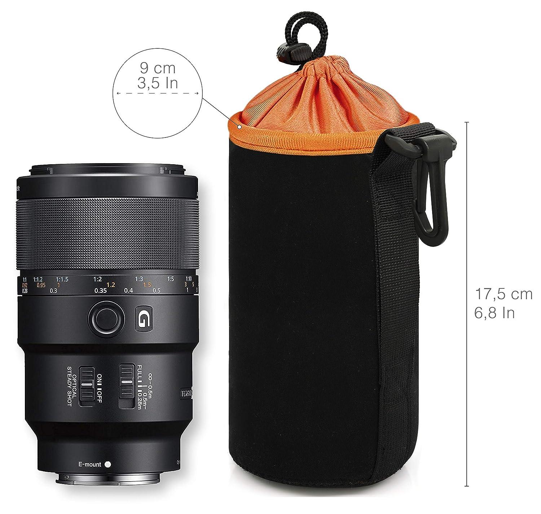 Borsa in Neoprene Impermeabile per Lenti Reflex//Canon//Nikon//Pentax//Sony MyGadget Custodia Protettiva per Obbiettivi Fotografici Taglia S