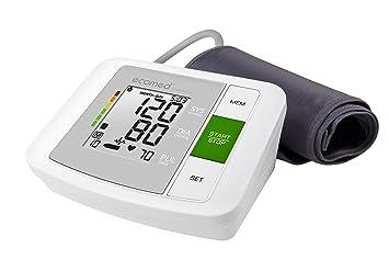 Ecomed BU-90E - Tensiómetro de brazo, de medición precisa de la tensión, color blanco y gris