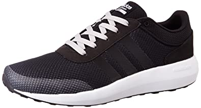 adidas neo Men's Cloudfoam Race Cblack and Ftwwht Sneakers - 10 UK/India  (44.67