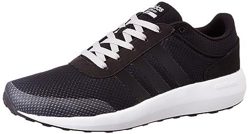 adidas neo Men s Cloudfoam Race Cblack and Ftwwht Sneakers - 7 UK India  (40.67 48b5848c8