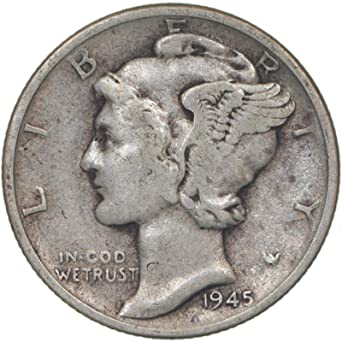 Better Date!! Nice Early Date!! 1919 Mercury Silver Dime!! 90/% Silver!!!