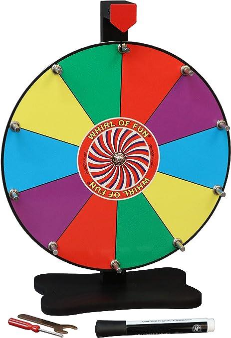 Moon Glow deportes 12 inch premio wheel-tabletop color – Rueda giratoria con soporte, 10 ranuras, marcador de borrado en seco, fabricado en Estados Unidos: Amazon.es: Deportes y aire libre