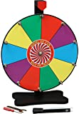 Prize Wheel 12 Inch-Tabletop Color Spinning Wheel with Stand, 10 Slots, Customize with Included Dry Erase Marker, Made…