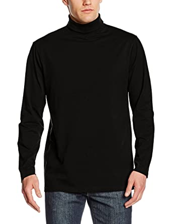 1f665fe8651d70 Henbury Mens Roll Neck Long Sleeve Top: Amazon.co.uk: Clothing
