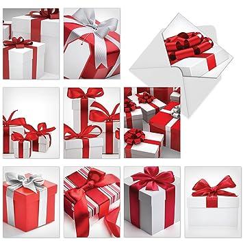 Amazon.com: Juego de 10 tarjetas de felicitación de Navidad ...