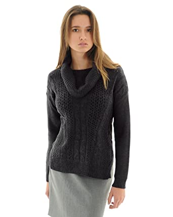 89th & Madison Women's Loose Weave Cable Knit Front Cowl Neck Knit ...