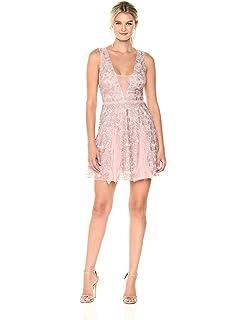 Amazon.com  BCBGMAXAZRIA Women s Alai Lace-Trimmed Dress  Clothing 6f8ad8076