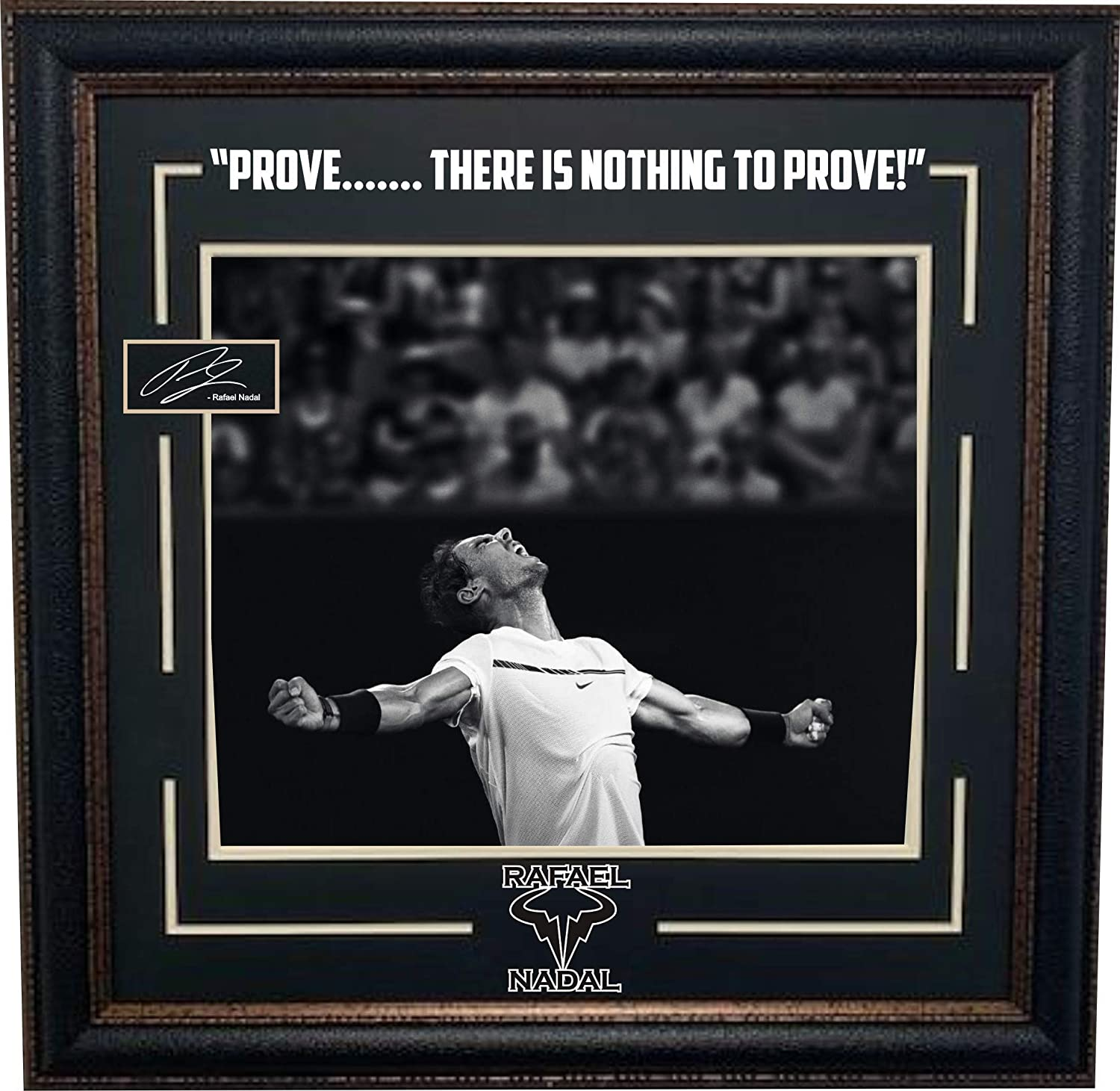 Rafael Nadal Framed Photo With Laser Signature At Amazon S Sports Collectibles Store