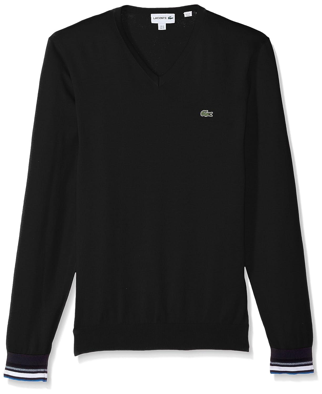 Lacoste - Jersey de algodón Semi Elegante para Hombre, Cuello en V   Amazon.com.mx  Ropa, Zapatos y Accesorios 05a53dc135
