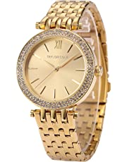 Taylor Cole Ladies' TC001 Elegant Gold Stainless Steel Band Simple Quartz Watch