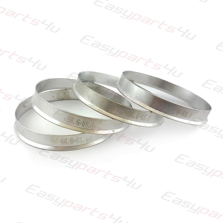 greitapigu.lt 4X Aluminium Zentrierringe 66,6-65,1 mm Toyota Mazda MX5 Alufelgen
